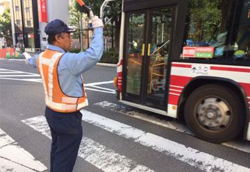 バスロータリー、交通誘導警備