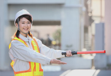 建築土木工事現場等交通誘導警備